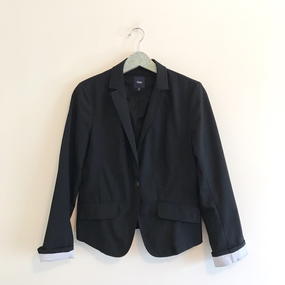 GAP Jackets & Blazers - Gap | Black Casual Single Button Blazer